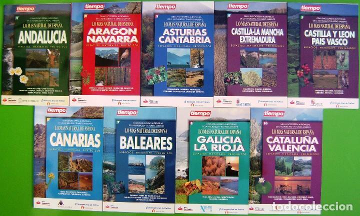 LOTE 9 LIBROS - LO MAS NATURAL DE ESPAÑA (Libros Nuevos - Ocio - Otros)