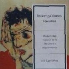 Libros: INVESTIGACIONES LITERARIAS. Lote 158429234