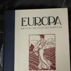 Libros: EUROPA REVISTA DE CULTURA POPULAR . Lote 162049722
