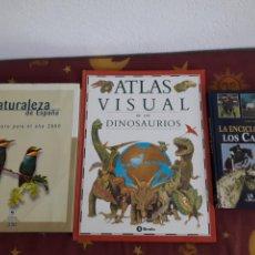 Libros: LOTE.ENCICLOPEDIA DE LOS CABALLOS. NATURALEZA.LIBROS.ATLAS DINOSAURIOS.. Lote 150989454