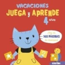 Libros: VACACIONES. JUEGA Y APRENDE. 4 AÑOS. Lote 162710558