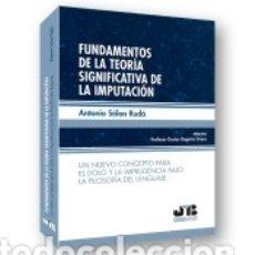Libros: FUNDAMENTOS DE LA TEORÍA SIGNIFICATIVA DE LA IMPUTACIÓN. Lote 171686180