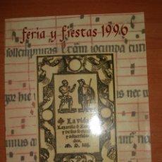 Libros: LIBRO DE FERIAS Y FIESTAS BARCARROTA. AÑO 1996.. Lote 171814189