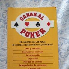 Libros: LIBRO GANAR AL POKER. Lote 204063017