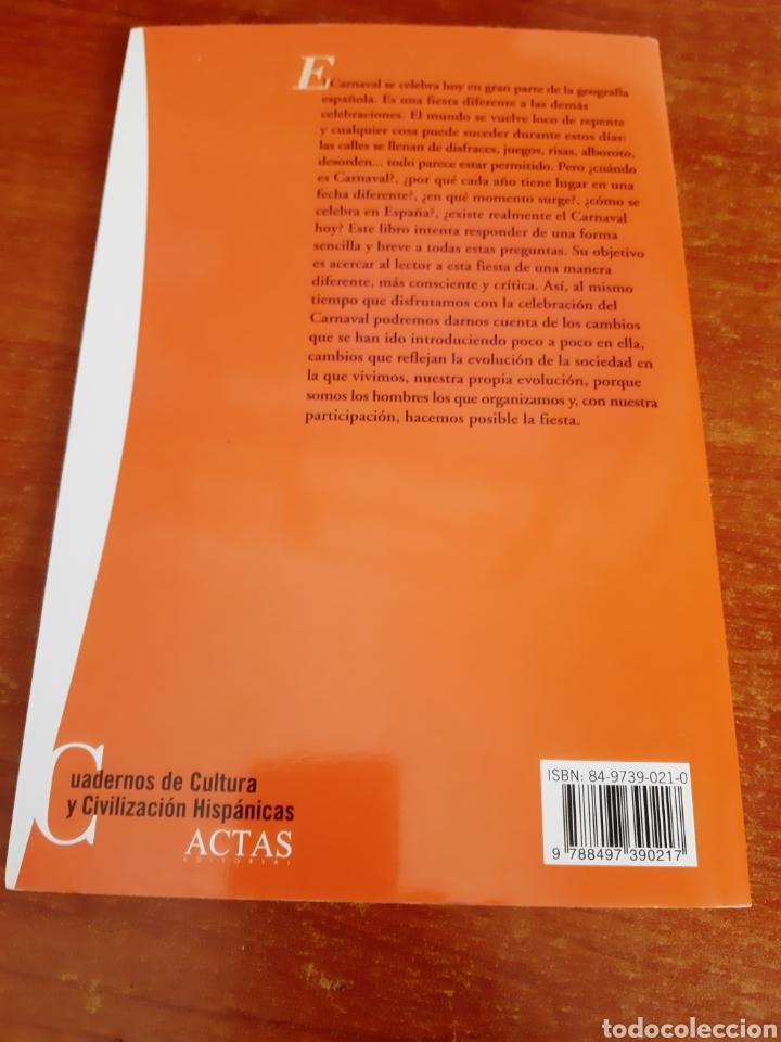 Libros: Libro El Carnaval en España (Art. Nuevo) - Foto 2 - 178025943