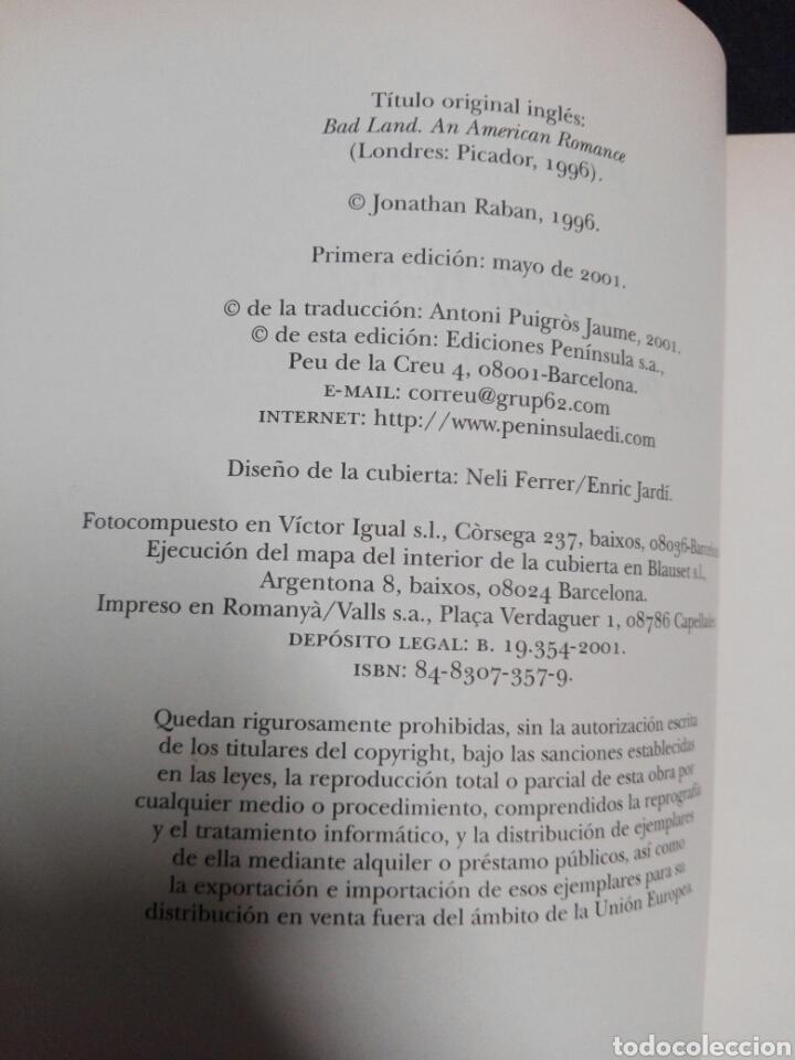 Libros: MALA TIERRA...Jonathan Raban ..1996 - Foto 4 - 178959171