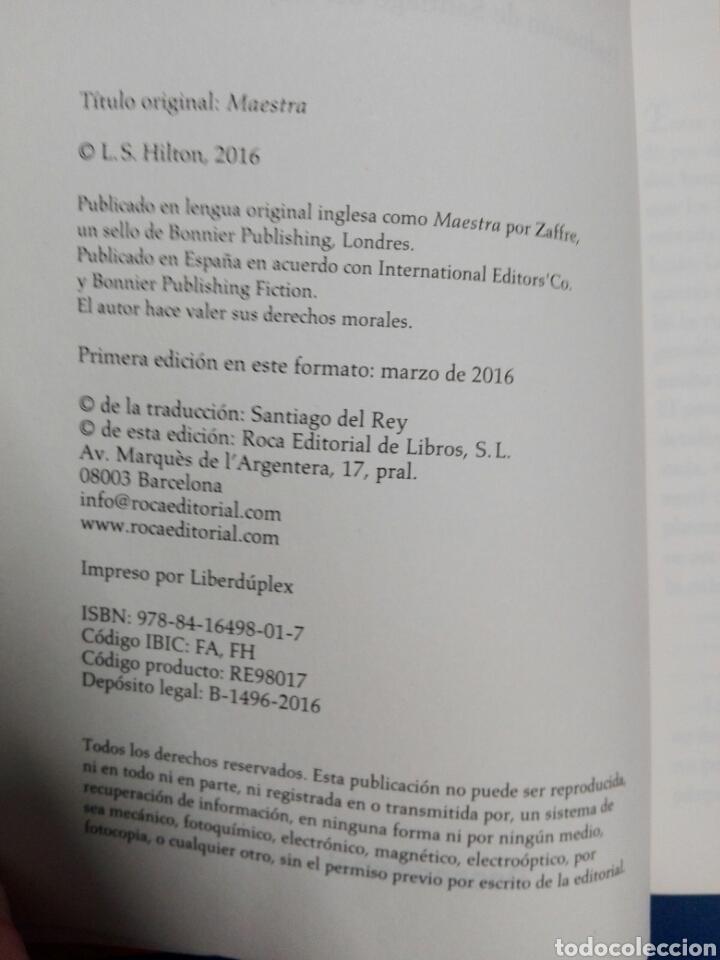 Libros: LA MAESTRA....S. Hilton - Foto 3 - 179025592