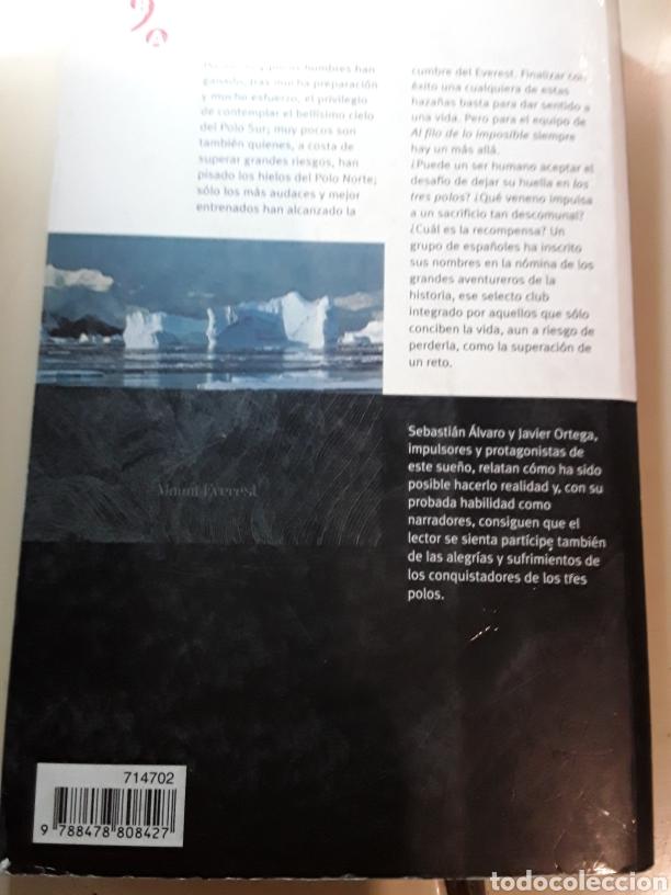 Libros: La conquista de los tres polos / Sebastián Álvaro y Javier Ortega / Biblioteca de la aventura - Foto 2 - 182224321