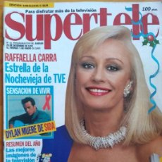 Libros: SUPERTELE Nº 41. PORTADA RAFFAELLA CARRA. MUY BUEN ESTADO. Lote 192069697