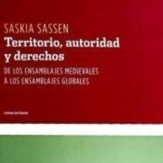 Libros: TERRITORIO, AUTORIDAD Y DERECHOS. Lote 194193420