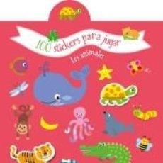 Libros: 100 STICKERS PARA JUGAR - LOS ANIMALES. Lote 194581435