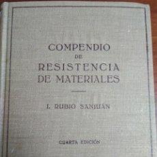 Libros: COMPENDIO DE RESISTENCIA DE MATERIALES TOMO II. Lote 194876975