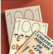 Libros: 4 LIBROS: 1001 CHISTES MÁS,1001 CHISTES 3, CHISTES NUEVOS DE LEPE, CHISTES DE PROFESORES Y ALUMNOS. Lote 194702376