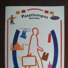 Libros: PASATIEMPOS IBERIA, LIBRILLO DE LA COMPAÑÍA AÉREA CON 12 PÁGINAS DE ENTRETENIMIENTOS ADULTOS Y NIÑOS. Lote 199123931