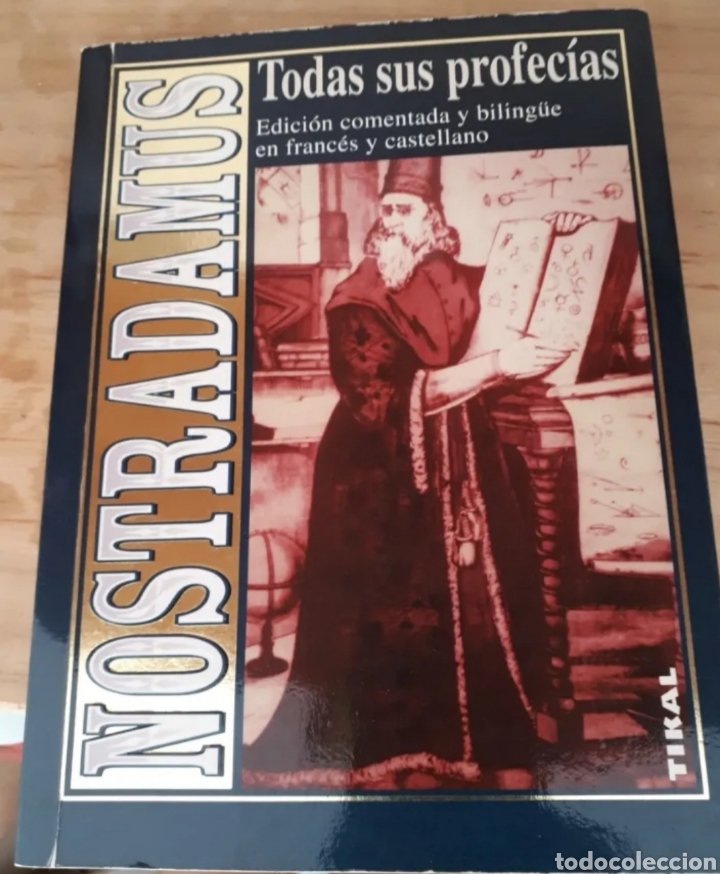 LIBRO DE NOSTRADAMUS.TODAS SUS PROFECIAS.CASTELLANO Y FRANCES. (Libros Nuevos - Ocio - Otros)