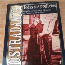 Libros: LIBRO DE NOSTRADAMUS.TODAS SUS PROFECIAS.CASTELLANO Y FRANCES.. Lote 208488513