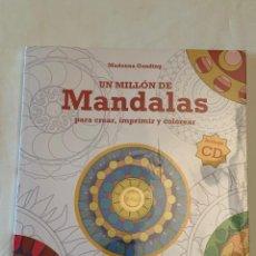 Libros: LIBRO UN MILLÓN DE MANDALAS PARA CREAR, IMPRIMIR Y COLOREAR. INCLUYE CD. SIN DESPRECINTAR.. Lote 209345808