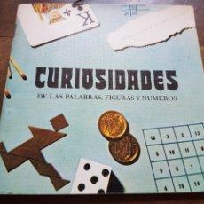 Libros: LIBRO CURIOSIDADES DE PALABRAS FIGURAS Y NUMEROS 1983 ZXY. Lote 209669915