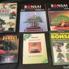 Libros: ESTUPENDO LOTE DE LIBROS DE BONSÁI. Lote 217813016