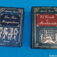 Libros: EL CONDE DE MONTECRISTO Y LOS TRES MOSQUETEROS. Lote 218230267
