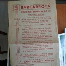 Libros: PROGRAMA OFICIAL DE FERIAS Y FIESTAS DE BARCARROTA. AÑO 1964.. Lote 218879185