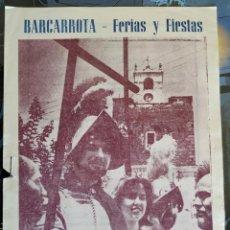 Libros: PROGRAMA OFICIAL DE FERIAS Y FIESTAS DE BARCARROTA. AÑO 1965.. Lote 218891932