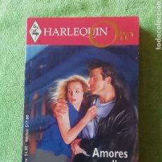 Libros: HARLEQUIN.. AMORES EN PELIGRO... Lote 221957387