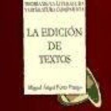 Libros: EDICION DE TEXTOS TEORIA DE LA. Lote 222439527