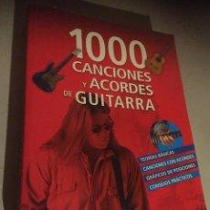 Libros: 1000 CANCIONES Y ACORDES PARA GUITARRA. Lote 237401720