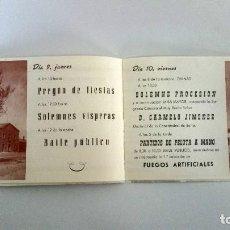 Libros: COVALEDA. PROGRAMA DE FIESTAS DE 1962. Lote 227698697