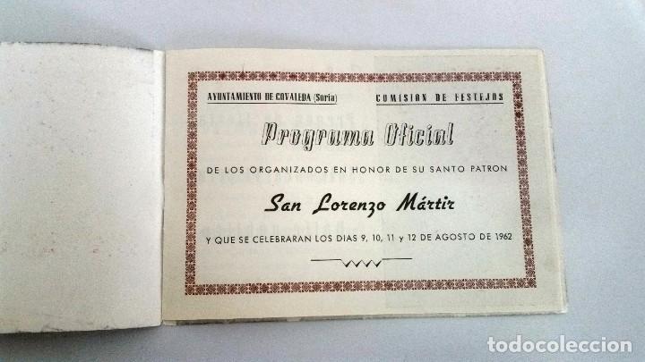Libros: Covaleda. Programa de fiestas de 1962 - Foto 4 - 227698697