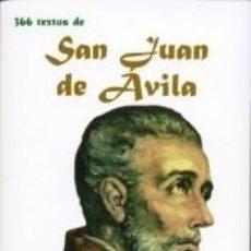 Libros: SAN JUAN DE AVILA-UN PENSAMIENTO PARA CADA DIA. Lote 228420450