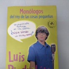 Libros: MONÓLOGOS DEL REY DE LAS COSAS PEQUEÑAS. LUIS PIEDRAHITA. Lote 236604330