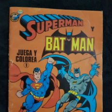 Libros: LIBRITO JUEGA Y COLOREA SUPERMAN Y BATMAN 1988. Lote 238676855