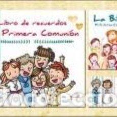 Libros: MI PRIMERA COMUNIÓN: LIBRO DE RECUERDOS + LA BIBLIA + 50 RECORDATORIOS. Lote 244489755