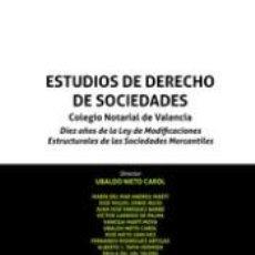 Libros: ESTUDIOS DE DERECHO DE SOCIEDADES. Lote 245915705