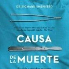Libros: CAUSA DE LA MUERTE. Lote 262348250