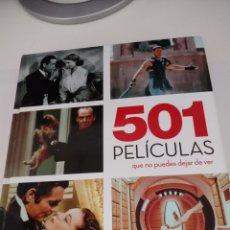 Libros: 501 PELICULAS QUE NO PUEDES DEJAR DE VER. Lote 269843053