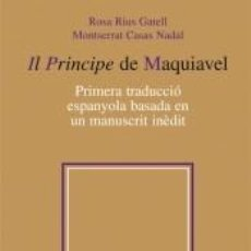 Libros: IL PRINCIPE DE MAQUIAVEL. Lote 276816618