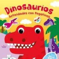 Libros: DINOSAURIOS. ACTIVIDADES CON PEGATINAS. Lote 277850713