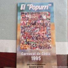 Livros: EL POPURRI , CARNAVA DE CADIZ 1995. Lote 278266088