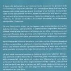 Libros: EL CEREBRO INFANTIL Y ADOLESCENTE. Lote 288653733