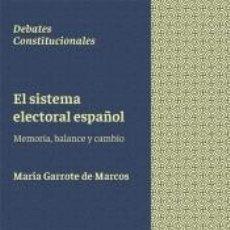 Libros: EL SISTEMA ELECTORAL ESPAÑOL. Lote 289468258
