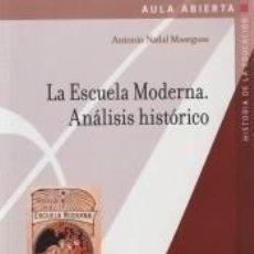 Libros: LA ESCUELA MODERNA. ANÁLISIS HISTÓRICO. Lote 290087233