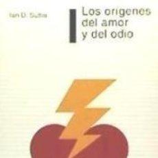Libros: ORIGENES DEL AMOR Y DEL ODIO, LOS. Lote 293810543