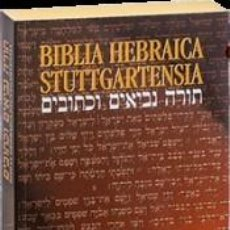 Libros: BIBLIA HEBRAICA STUTTGARTENSIA. STUDIENAUSGABE. Lote 294224133