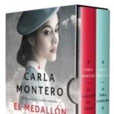 Libros: PACK CARLA MONTERO CON: EL MEDALLÓN DE FUEGO | LA TABLA ESMERALDA. Lote 294856703