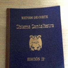 Libros: MÉTODO DE CORTE SISTEMA SANTALIESTRA 1950. Lote 118486371