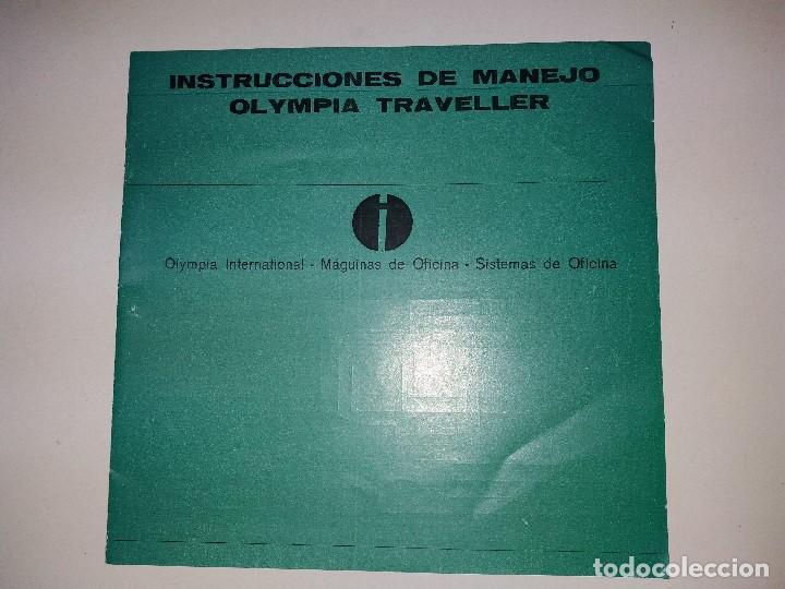 INSTRUCCIONES DE MANEJO DE MAQUINA DE ESCRIBIR MARCA OLYMPIA TRAVELLER (Libros Nuevos - Ocio - Informática - Ofimática)
