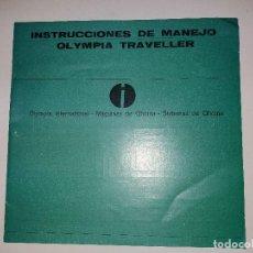 Libros: INSTRUCCIONES DE MANEJO DE MAQUINA DE ESCRIBIR MARCA OLYMPIA TRAVELLER. Lote 192367606